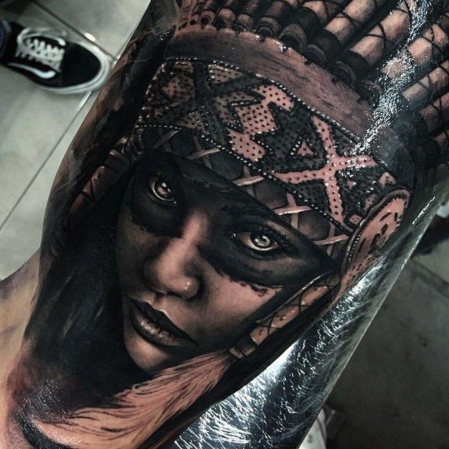 photo-realistic tattoo
