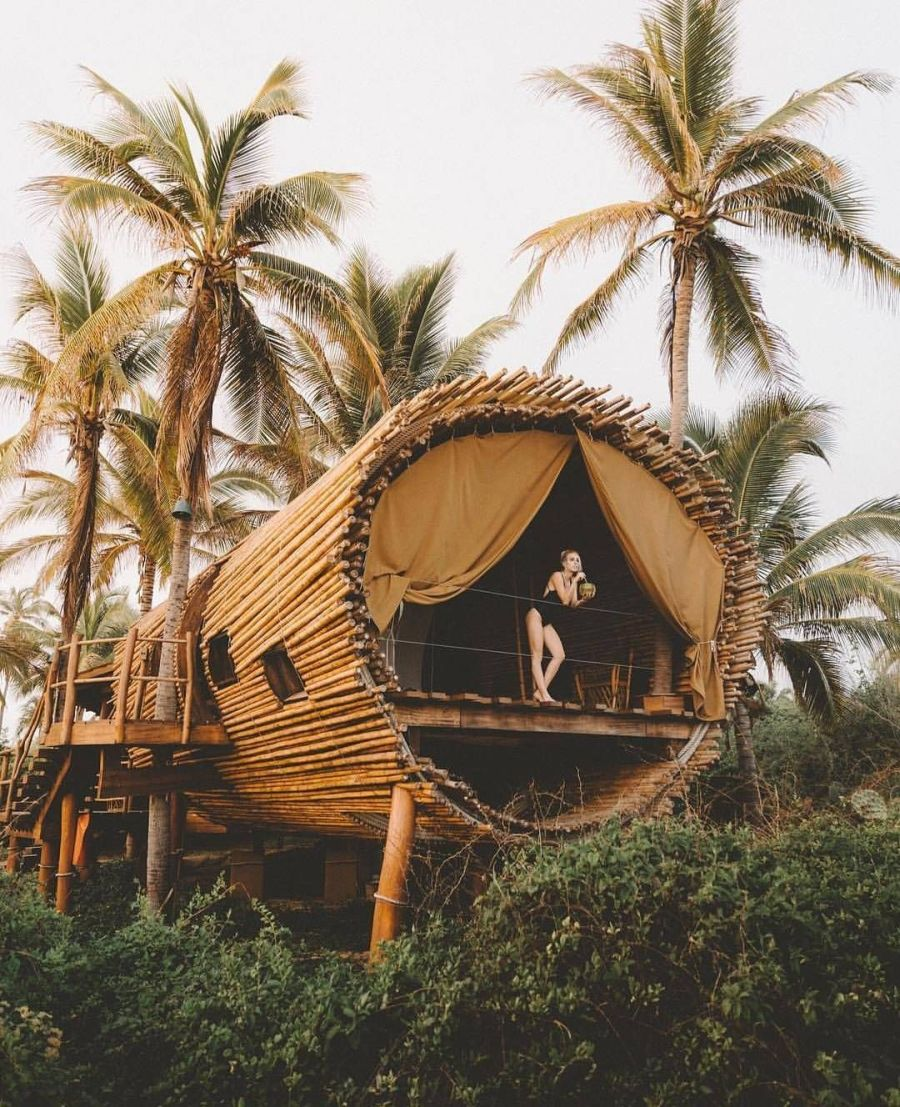 tree-house hotel Playa Viva