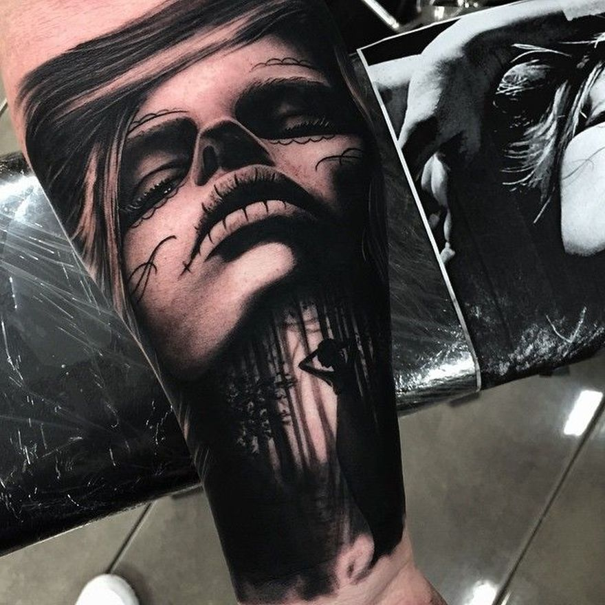 realistic tattoo by Drew Apicture