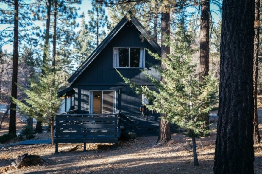 contemporary A-frame cabin