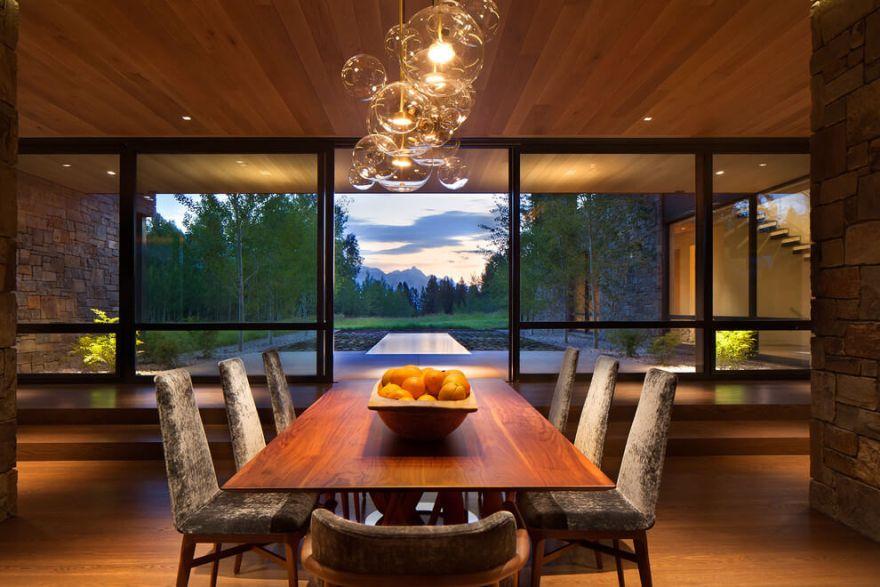 contemporary mountain house