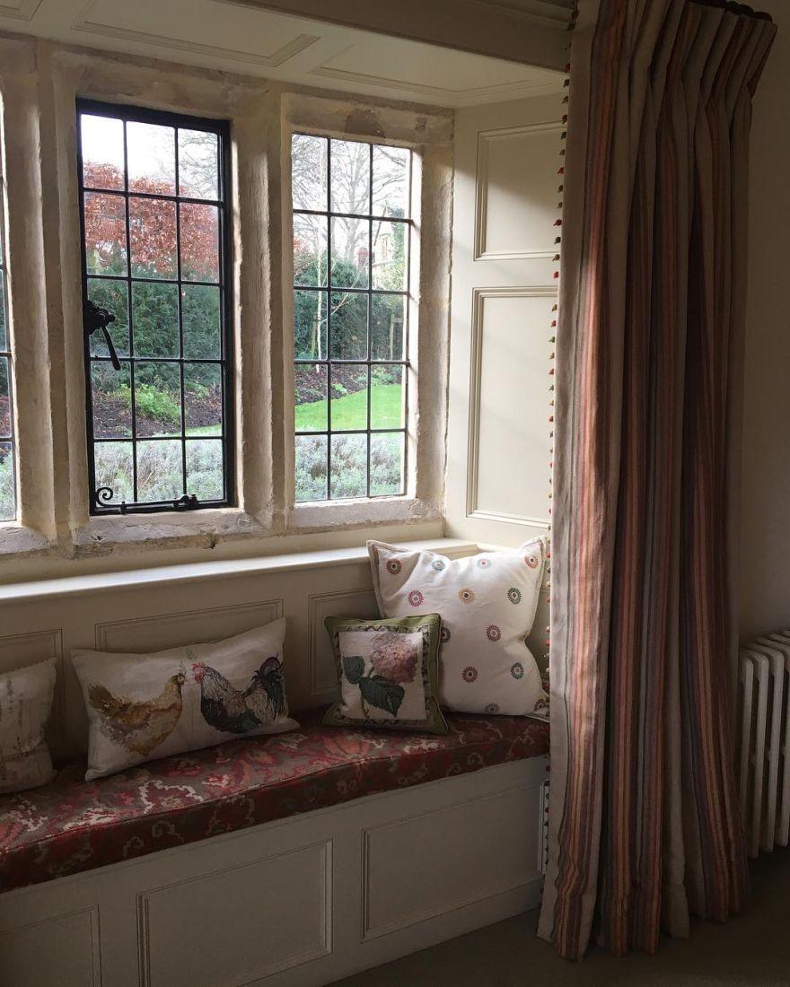 reading nook near the window