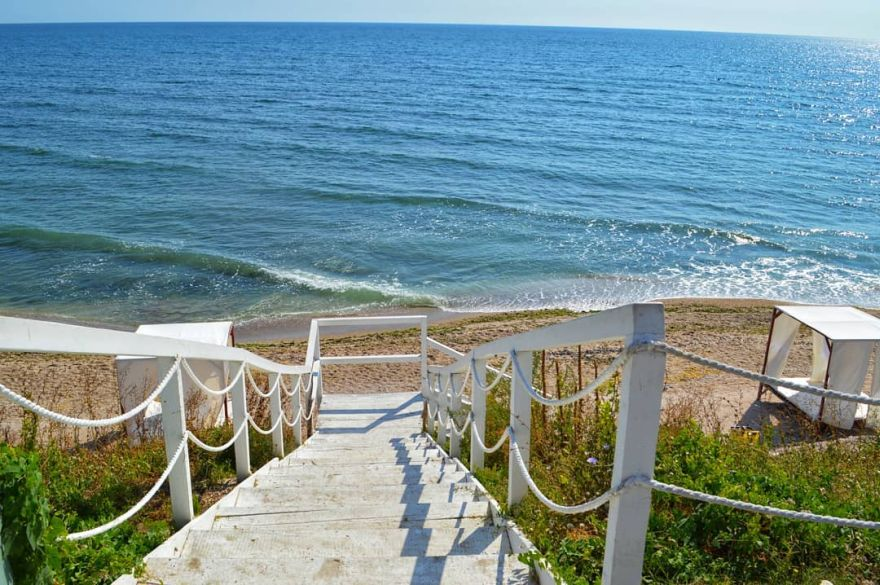 beach resort with boho vibes