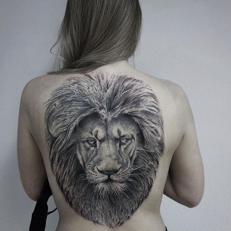 lion tattoo for women