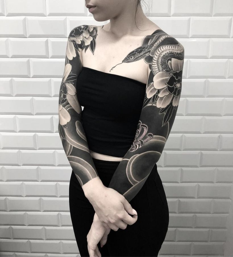 solid black tattoo ideas