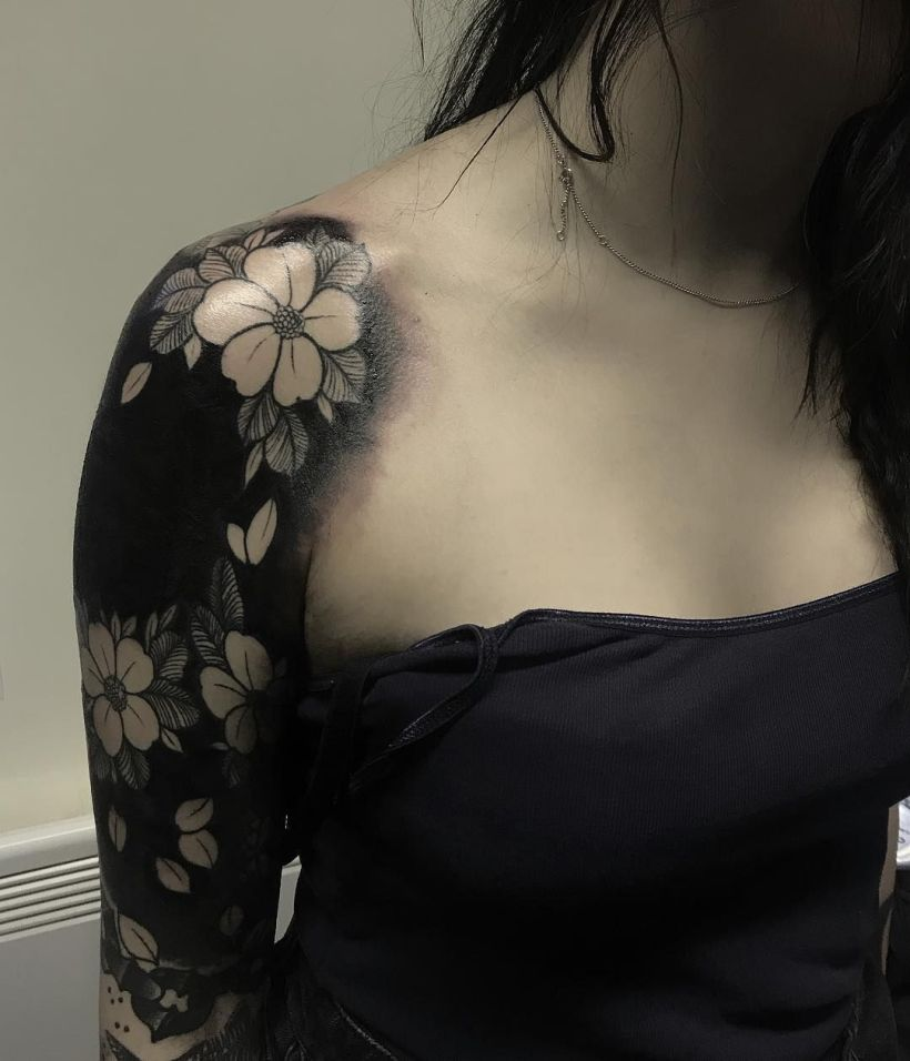 blackout tattoo ideas for women