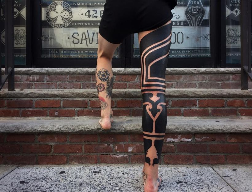 solid black tattoos