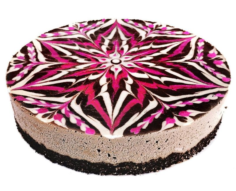 vegan mandala cake