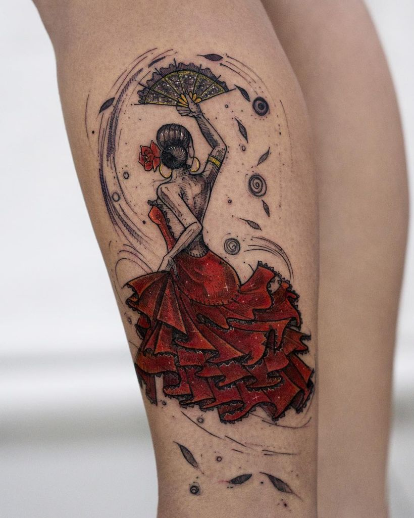 magical illustrative tattoo