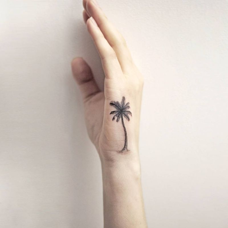 minimalist tree tattoo