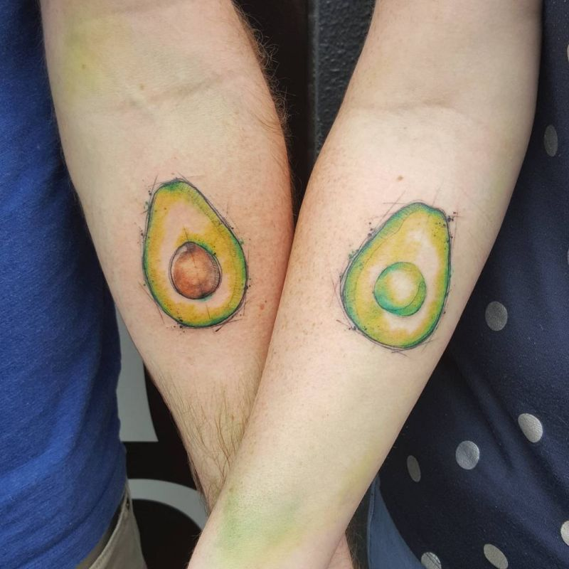 avocado matching tattoo