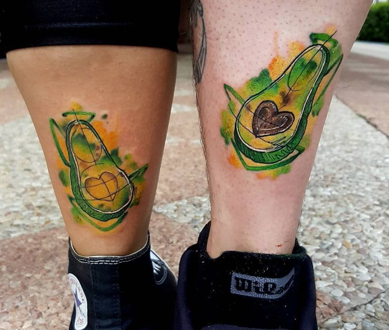 awesome avocado couple tattoos