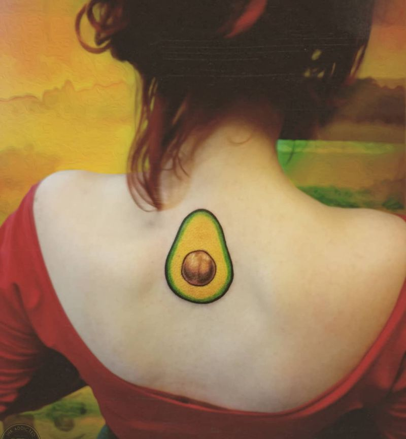 cute avocado tattoo ideas