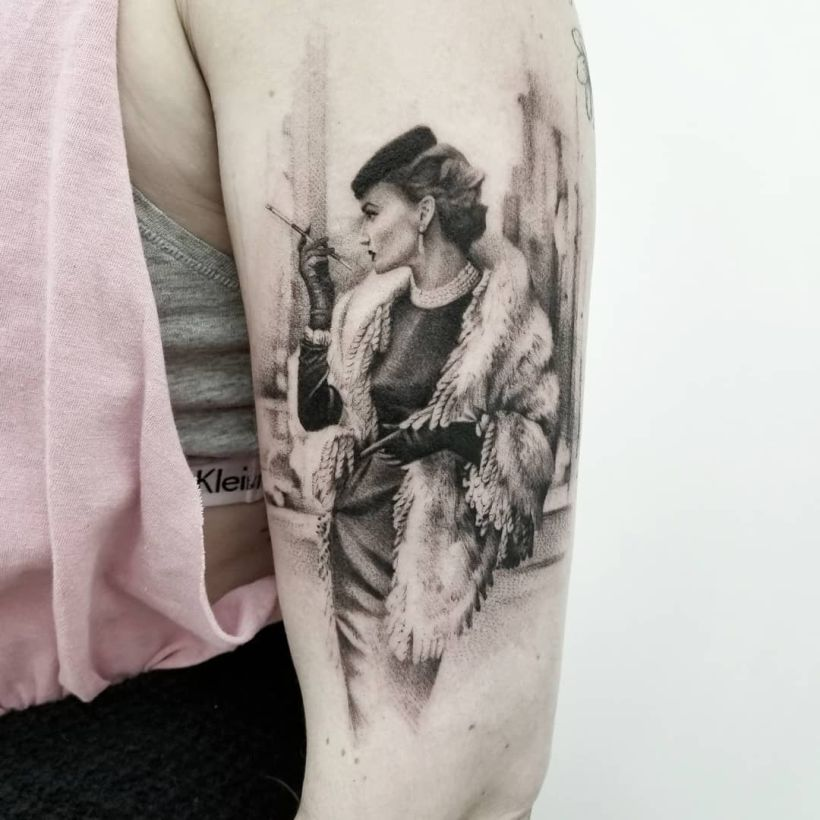 fine line realistic tattoos