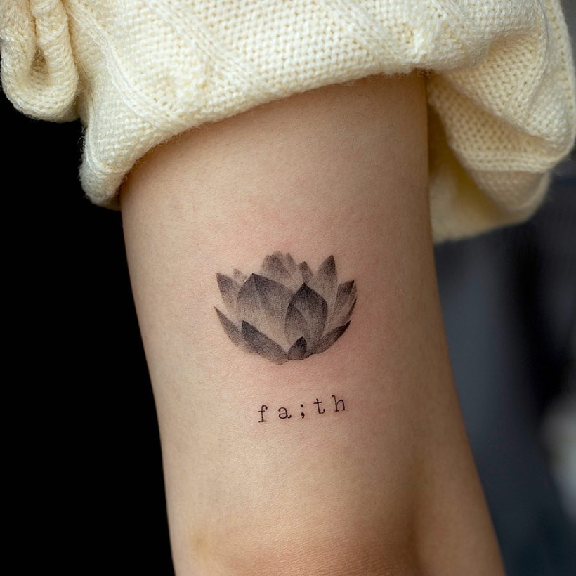 beautiful water lily tattoos