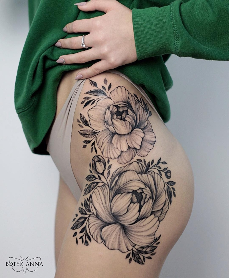 floral ink pieces
