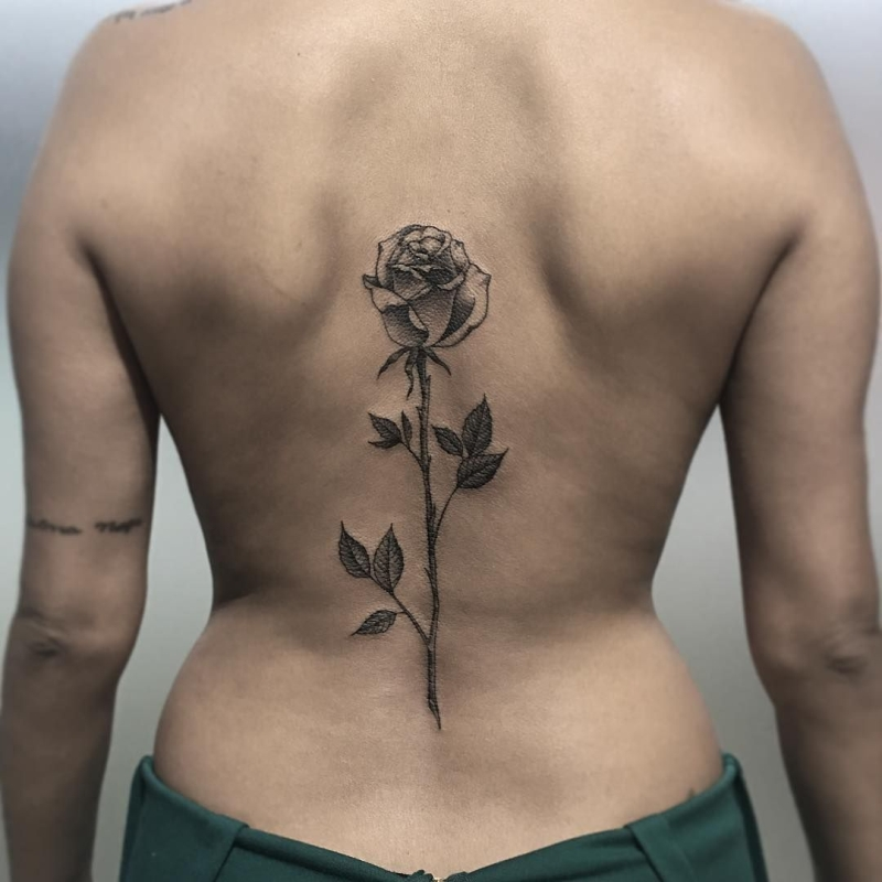 rose tattoo for girls