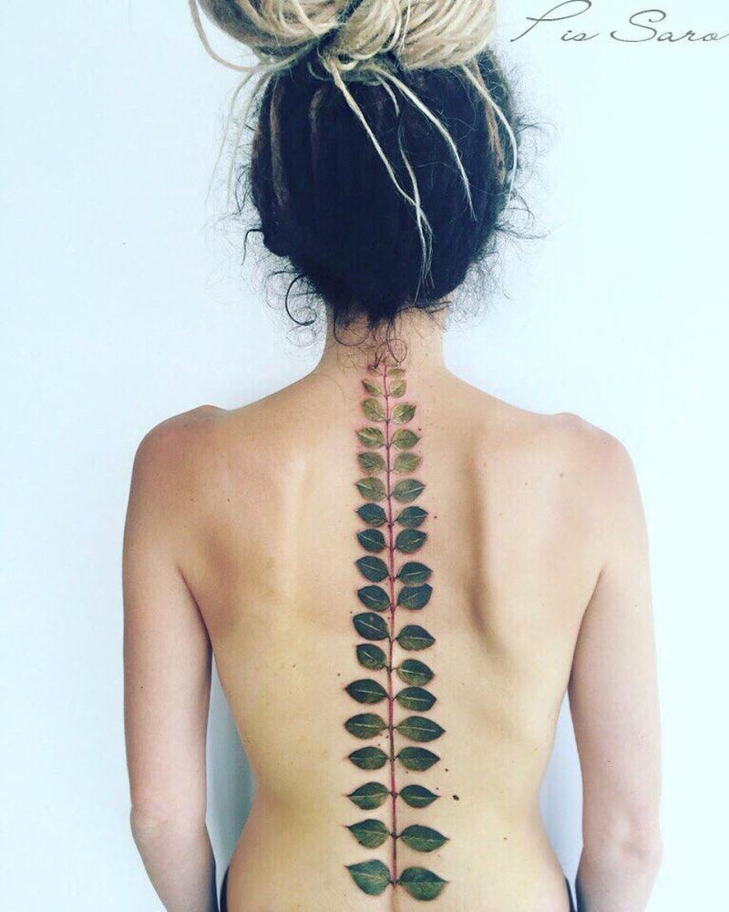 cool botanical tattoo