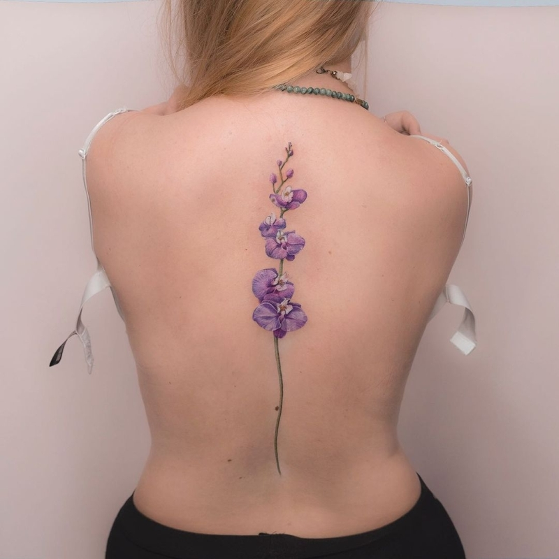 floral tattoos for girls