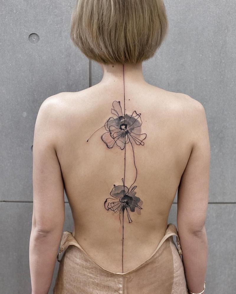 cool spine tattoo