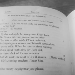Page from King Lear