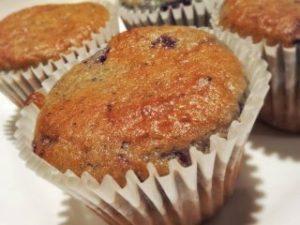 cream cheese and blueberry gluten free muffins