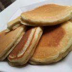 cooked pistachio american pancakes