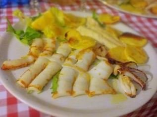 Simply grilled cuttlefish or squid