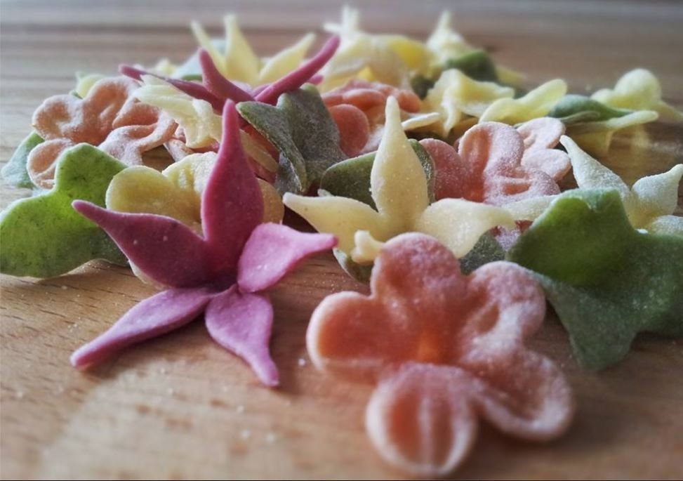 Our homemade specialty pasta flowers