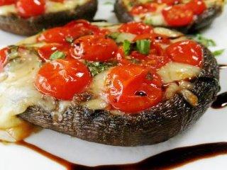 Caprese stuffed portobello mushrooms