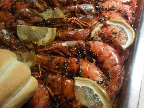 Yet another one of Enzo's amazing recipes with shrimp