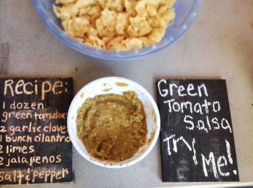 Flavours from The Farm: Green tomato salsa