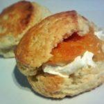 peach yogurt scones marmalade