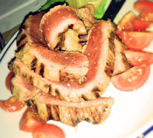 Italian rib eye steak tagliata