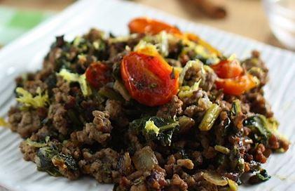 Sukumi wiki – beef and collard greens