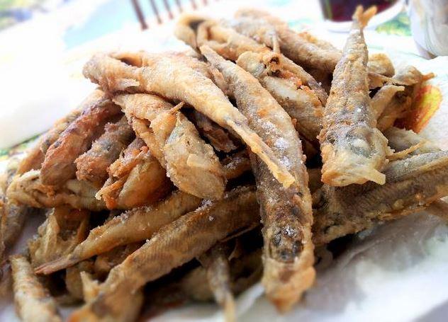Deep fried whitebait