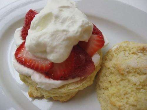 Classic American strawberry shortcake
