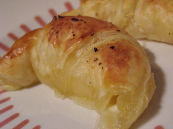 Mini mozzarella and tomato croissants