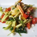 leek tomato parsely casarecce