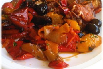 roasted peppers olives