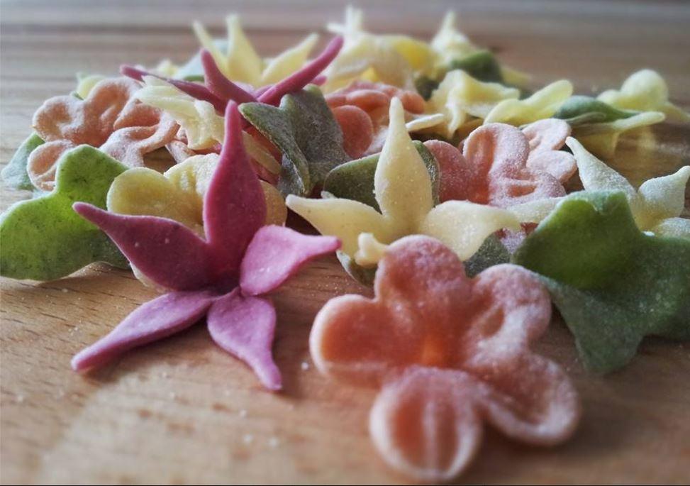Our handmade pasta flowers