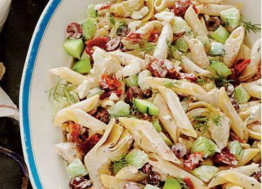 Tzatziki penne salad