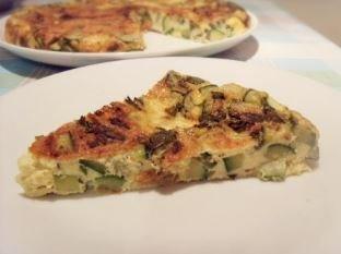 Zucchini and fresh mint frittata
