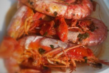 pizza oven shrimp