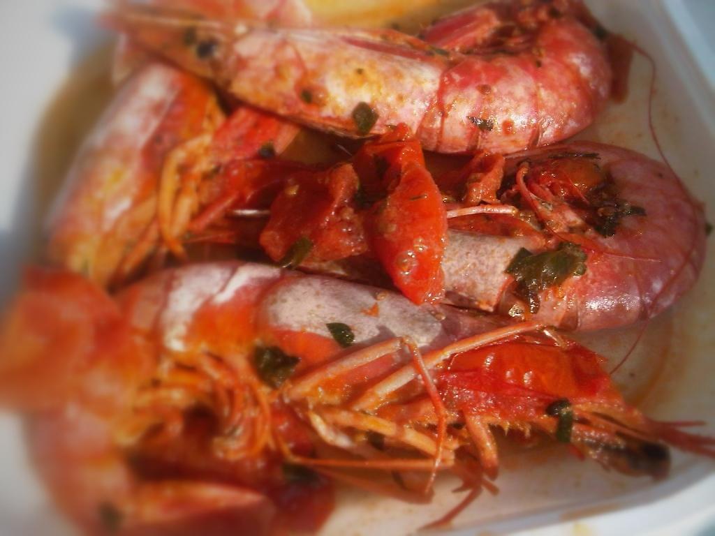 Shrimp scampi antipasto