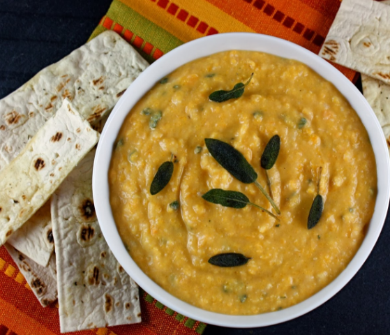 Perfect butternut squash dip with sage