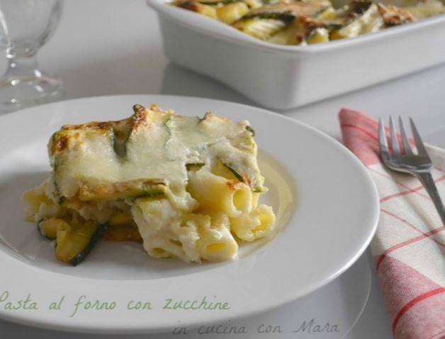 Baked ziti with zucchini