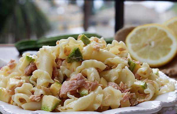 Gigli pasta, zucchini and tuna salad