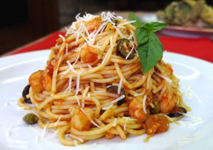 shrimp puttanesca sauce