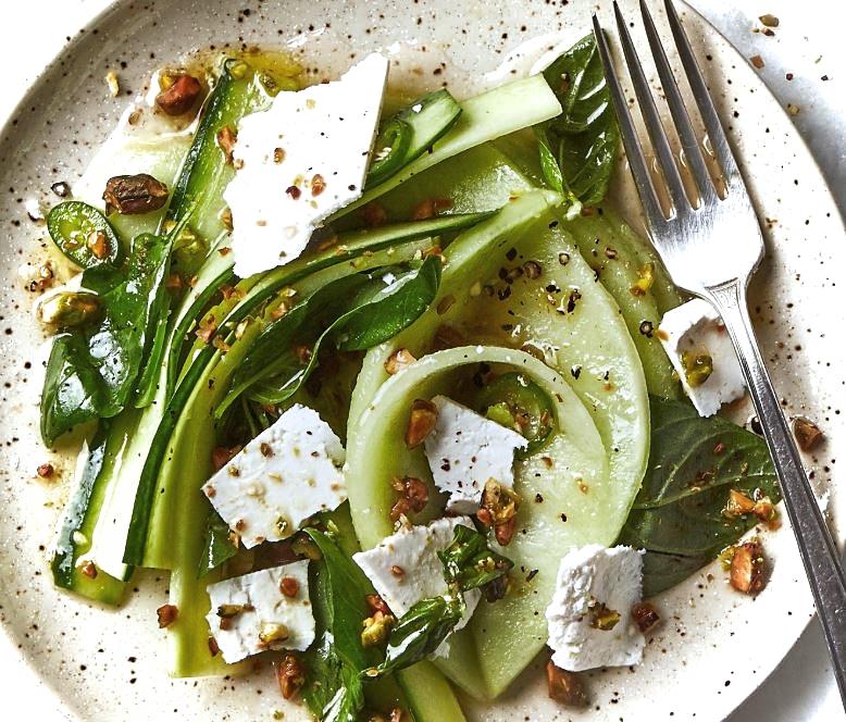Cucumber, Melon and Ricotta Salad